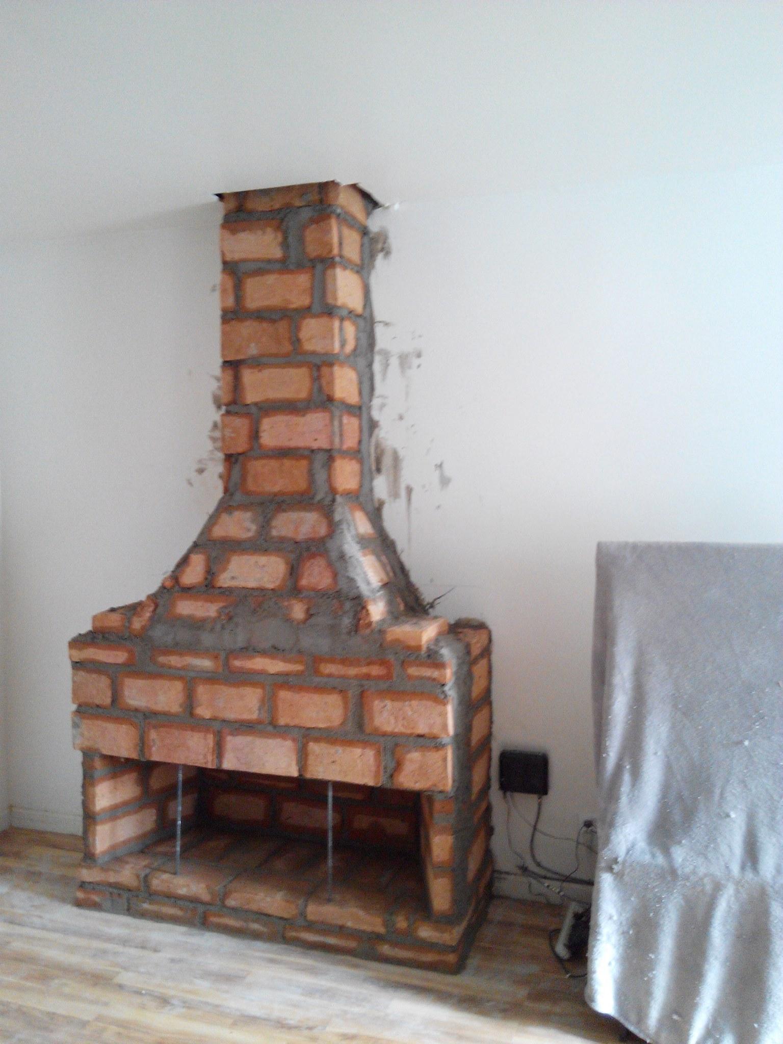 Chimenea de 56 x16 650 dolares chimeneas baja Construir una pileta de ladrillos